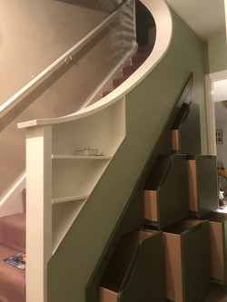 Functional under stairs storage