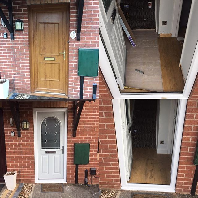 New front door supplied and fitted this morning and quickstep flooring in hallway