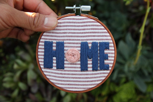 "Small ""HOME"" Embroidery Hoop"