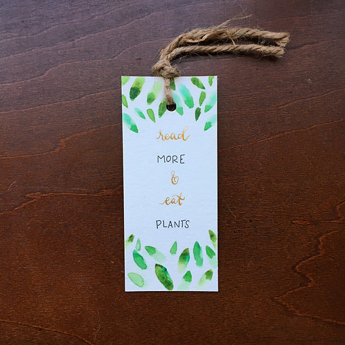 Read More & Eat Plants Bookmark