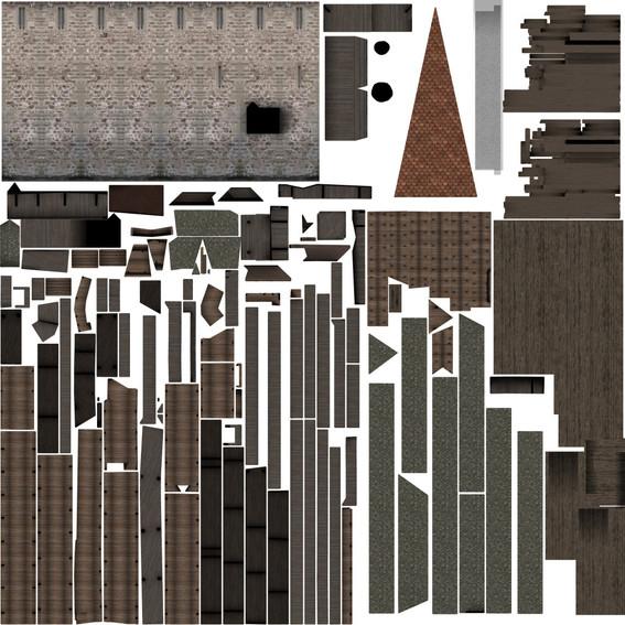 Kapellbruecke-textur-abwicklung-3D-modell