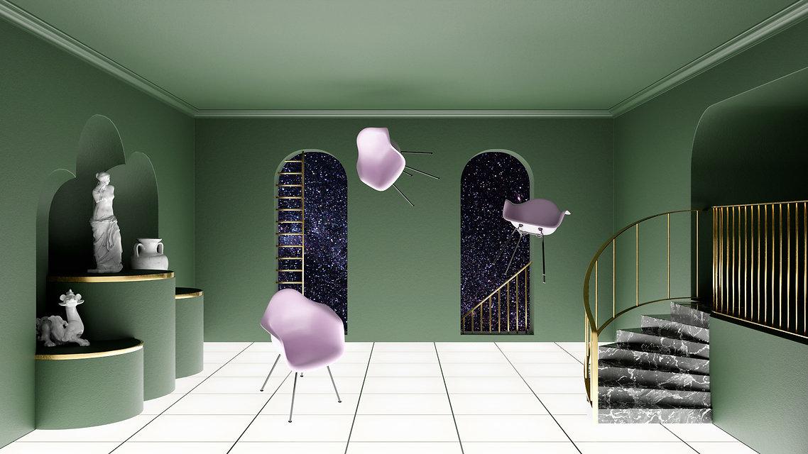 schweben-stuhl-abstrakt-innenraum-gruen.