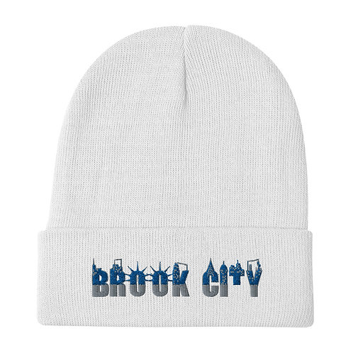 """'BROOK-CITY"""" Embroidered Beanie"""