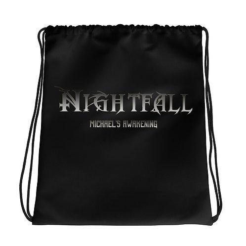 """Nightfall: Michael's Awakening"" Banner Drawstring bag"
