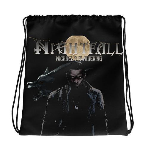 """""""Nightfall: Michael's Awakening"""" Drawstring bag"""