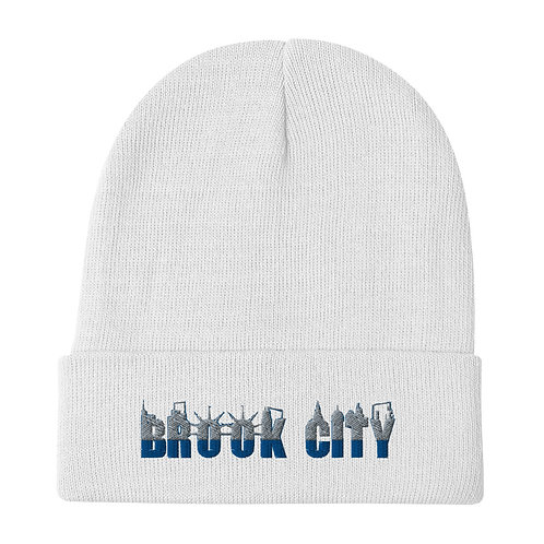 """BROOK-CITY"" Embroidered Beanie"
