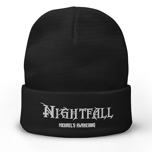 """Nightfall: Michael's Awakening"" Banner Embroidered Beanie"