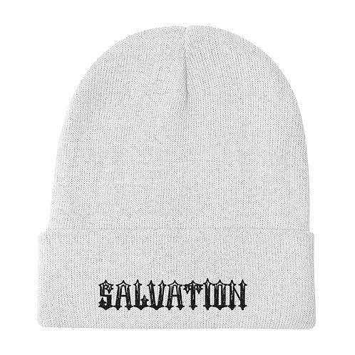 """""""Salvation"""" Embroidered Beanie"""