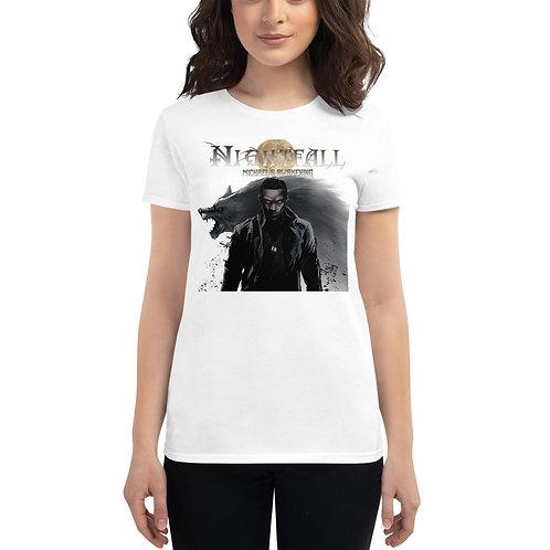 """""""Nightfall: Michael's Awakening"""" Women's Short Sleeve T-Shirt"""