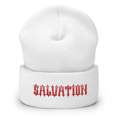 """Salvation"" Banner Cuffed Beanie"
