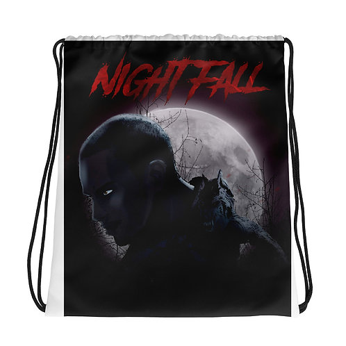 """Nightfall"" Drawstring bag"