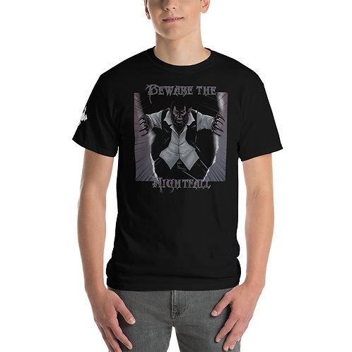 """""""Beware The Nightfall"""" Men's Short Sleeve T-Shirt"""