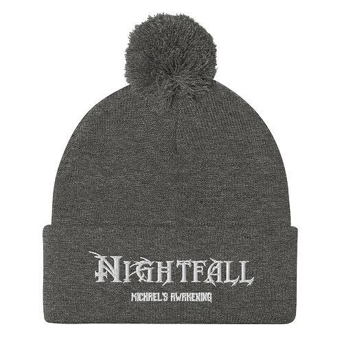 """Nightfall: Michael's Awakening"" Banner Pom-Pom Beanie"