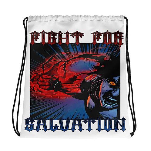 """Fight For Salvation"" Drawstring bag"