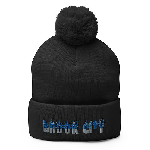 """BROOK-CITY"" Pom-Pom Beanie"