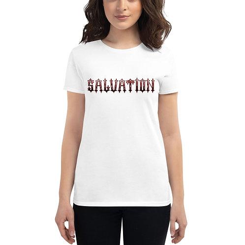 """""""Salvation"""" Banner Women's Short Sleeve T-Shirt"""