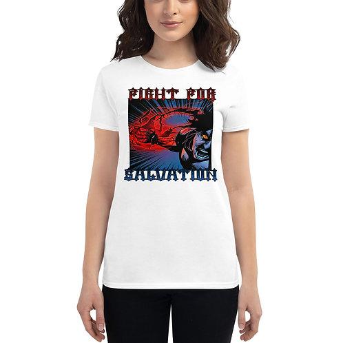 """""""Fight For Salvation"""" Women's Short Sleeve T-Shirt"""