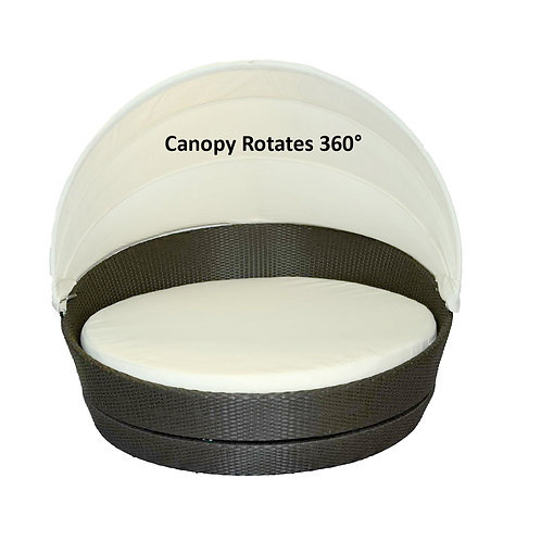 Round Daybed With Rotating Canopy 63""