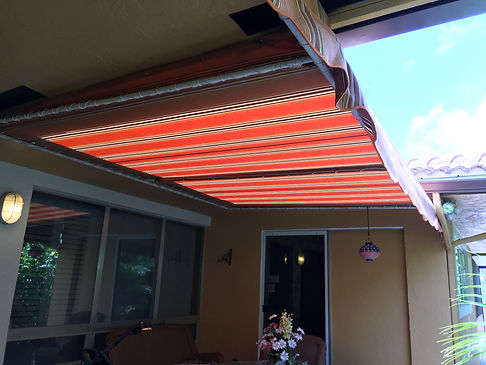 Custom refabs for odd shaped fixed awnings