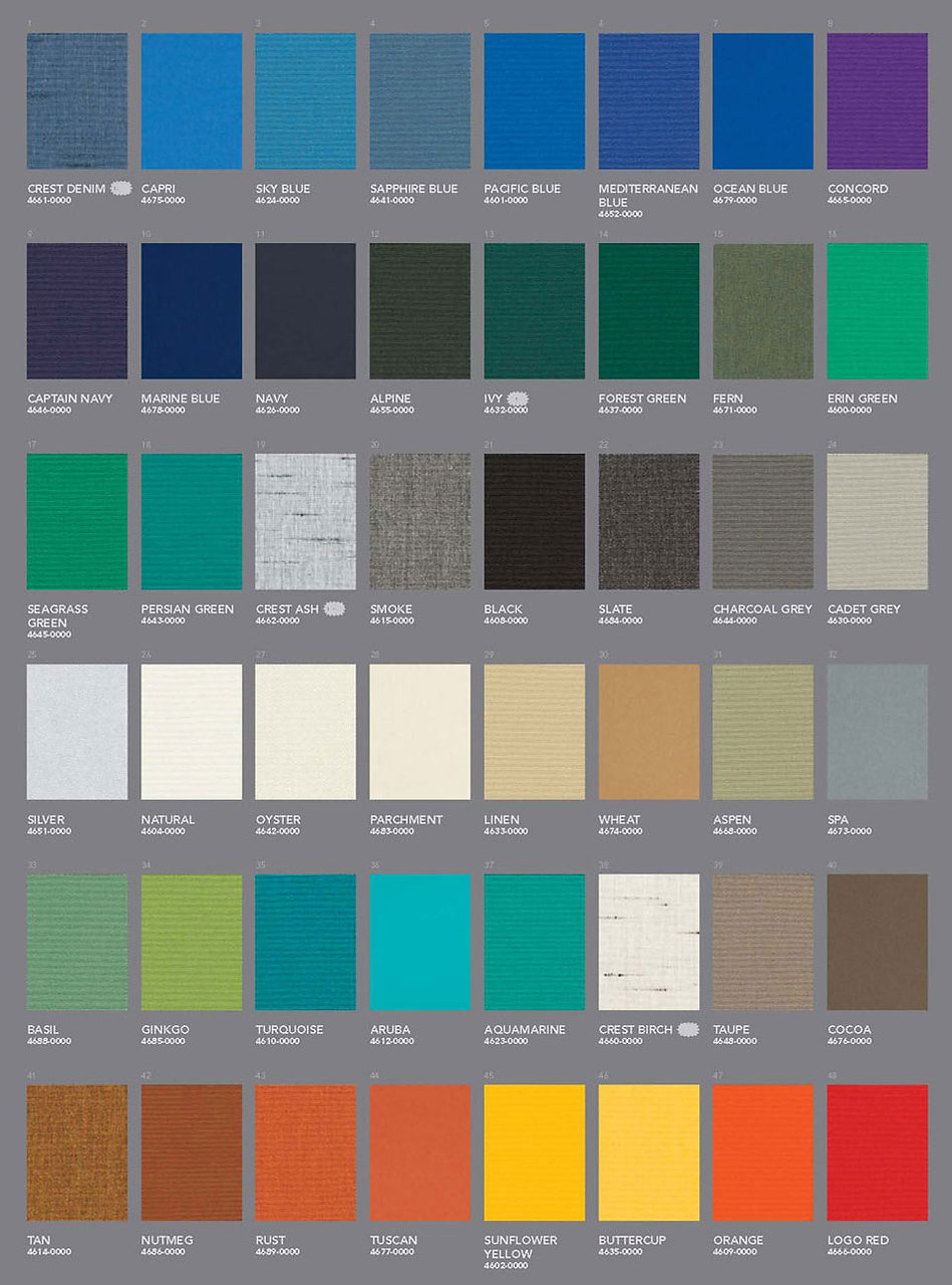 Awning Stars Sunbrella Fabric Collection page 1
