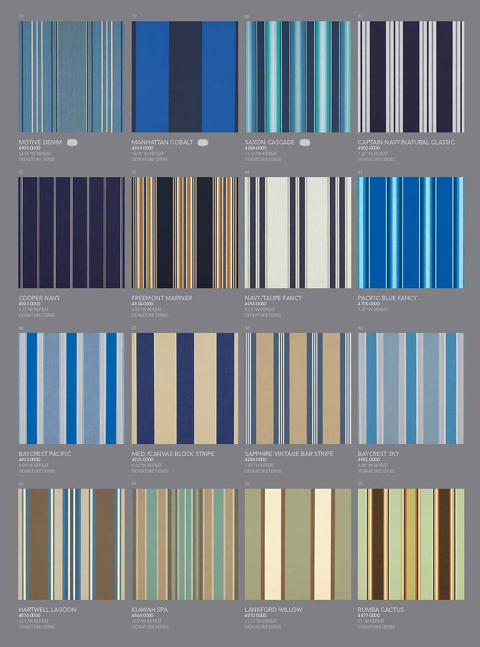 Awning Stars Sunbrella Fabric Collection page 3