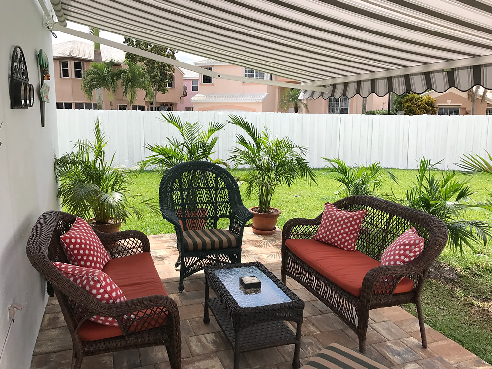 Custom sized retractable awnings are made to fit perfectly