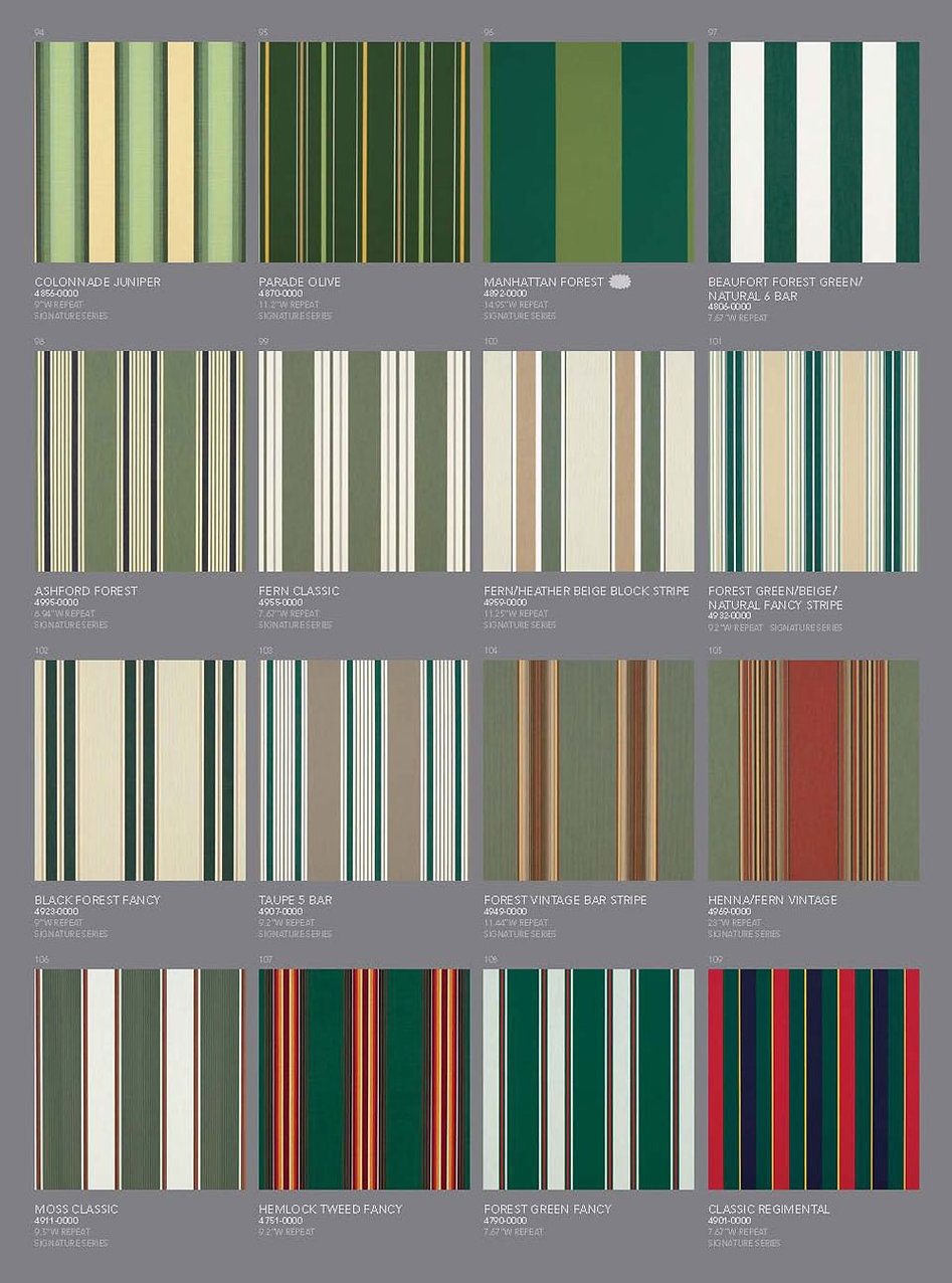 Awning Stars Sunbrella Fabric Collection page 4