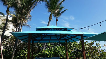 Awning Stars Beachside Cabana at Tideline Hotel and Resort