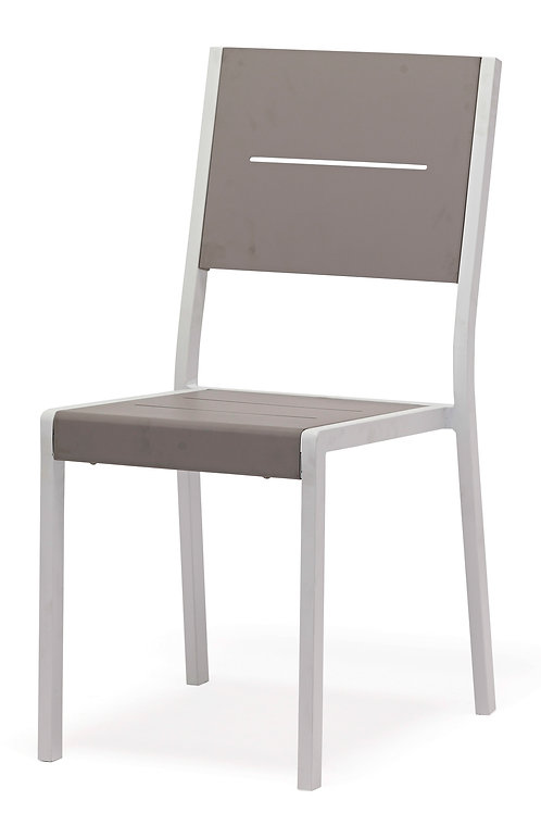 Aluminum Slat Side Chair