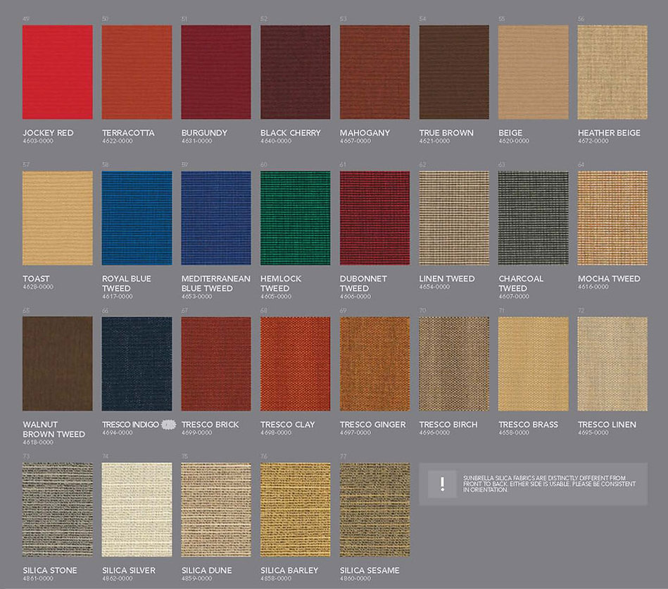 Awning Stars Sunbrella Fabric Collection page 2