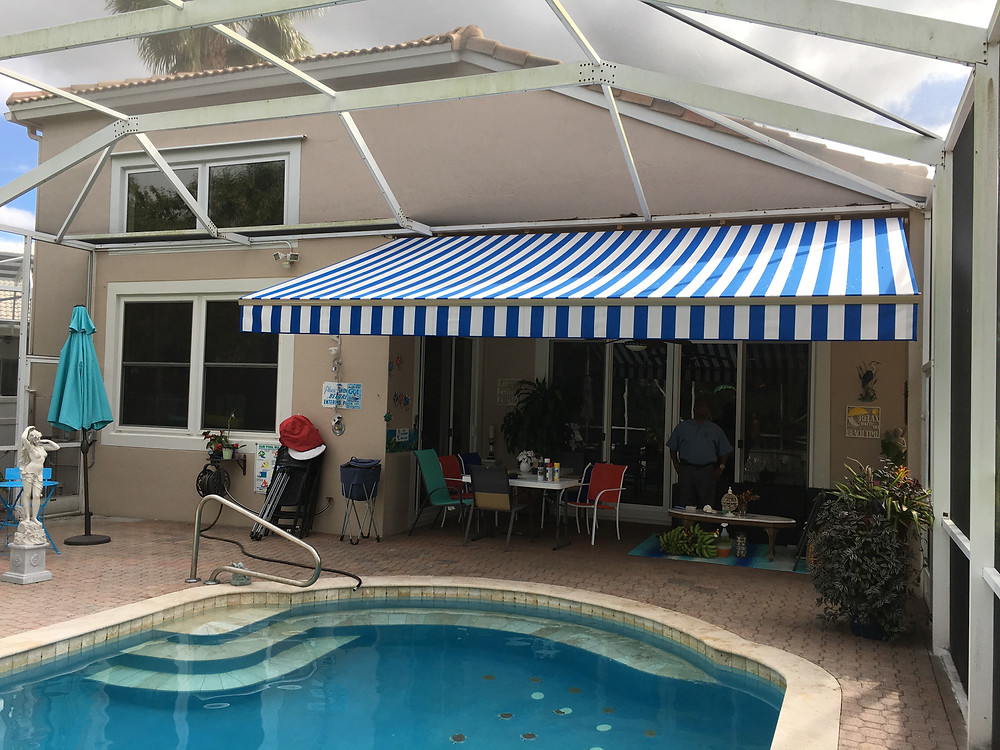 sun and rain protection are benefits of a retractable awning