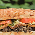 Eggplant Meatball Sandwich