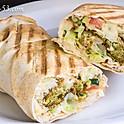 Vegan Falafel and Hummus Sandwich