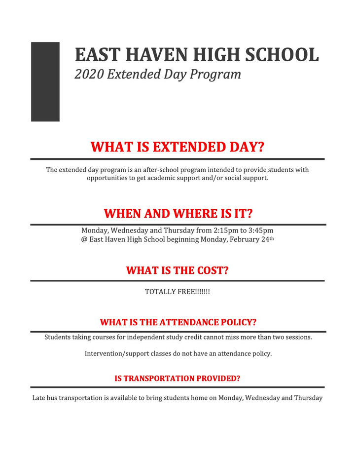 Enrichment and Support: What the Extended Day Program Offers to Students
