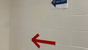 EHHS Students and Teachers Adjust to One-Way Hallways