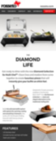 rosseto serving solution diamond