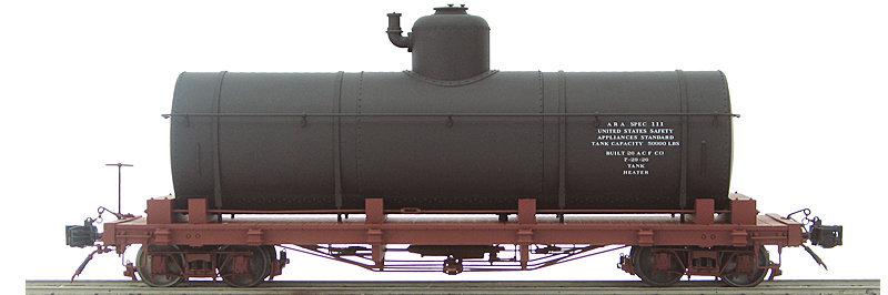 AM2208-02 Tank Car - Black Data Only, 1 car