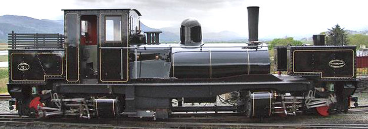 S19-28B Tasmanian K1 Garratt 0-4-4-0 Plain Black, Live Steam