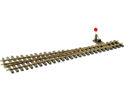 AM39-111 Code 250 #6 Switch - Narrow Gauge, Brass, Manual, Right