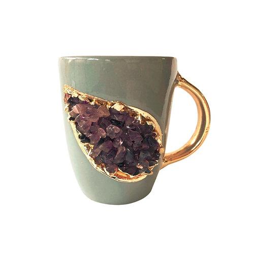 AMETHYST GREY CERAMIC COFFEE MUG