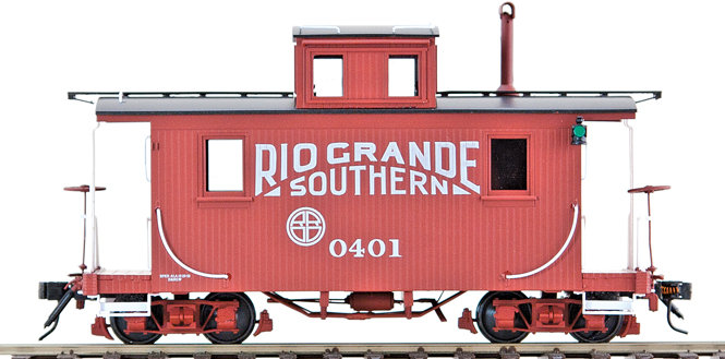 AM53-015 On30 Short Caboose - RGS #0401, 1 car