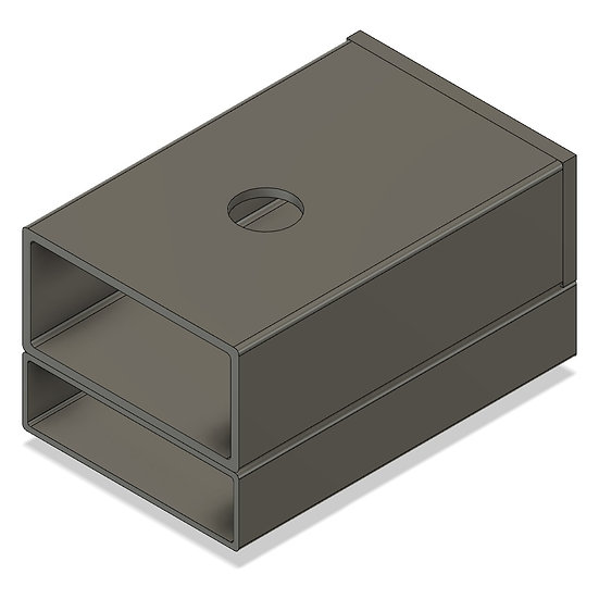 """Universal Coupler Box for 1.6"""" & 2.5"""" Scale Knuckle Couplers"""