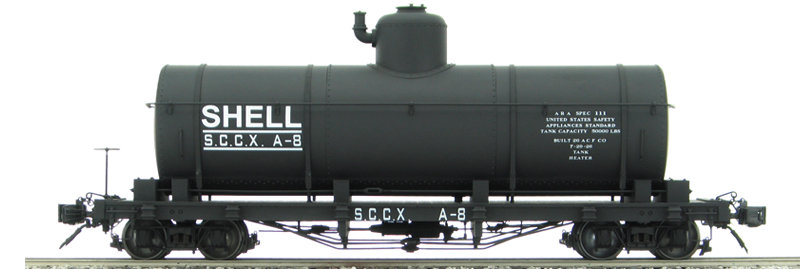 AM2208-06 Tank Car - Shell Oil Co. Black #A-13, 1 car