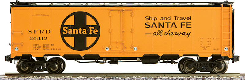 AM32-515X PFE Reefer - Santa Fe Modern Large Logo, 1 car