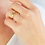 Thumbnail: 3-STACK SMALL GEMSTONE RING SET