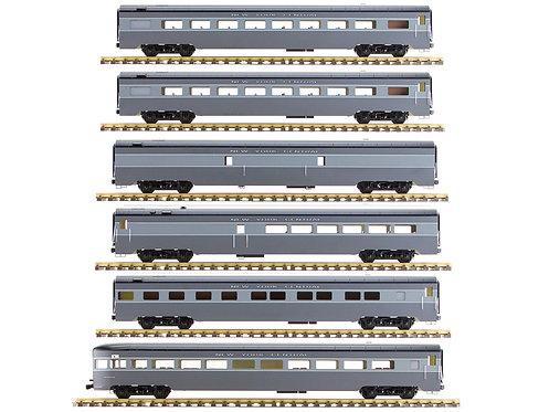 New York Central, Gray, 6 Car Set, AL34-384