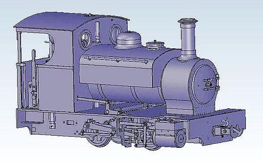 S19-31R Sabrina 0-4-0ST, Maroon, Live Steam