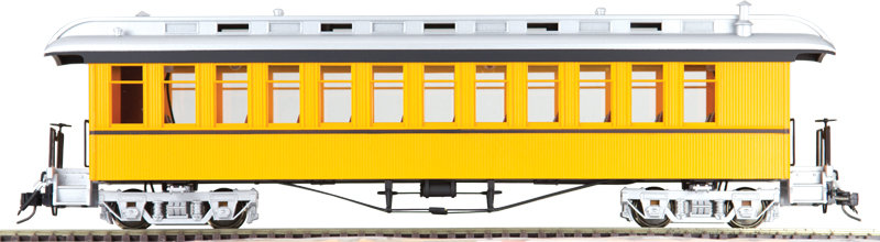 AM54-6103X On3 Coach - Unlettered Bumble Bee Yellow Single Stripe, 1 car