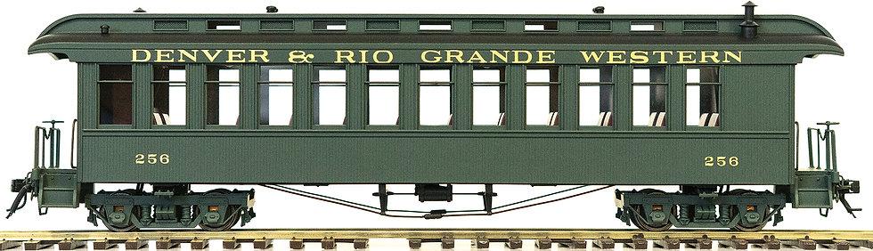 AM54-613X On30 Coach - D&RGW Green, 1 car