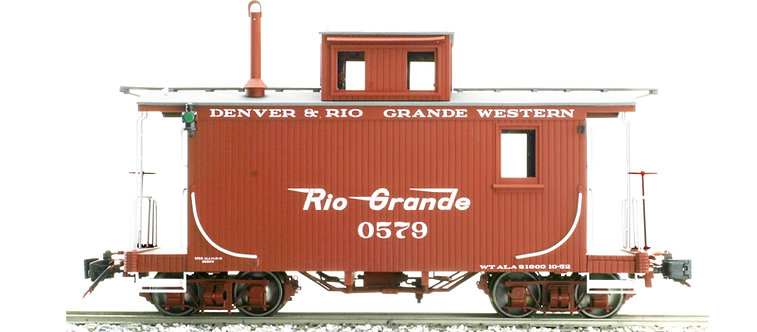 AM33-013C Short Caboose - D&RGW #0577 Flying Rio Grande